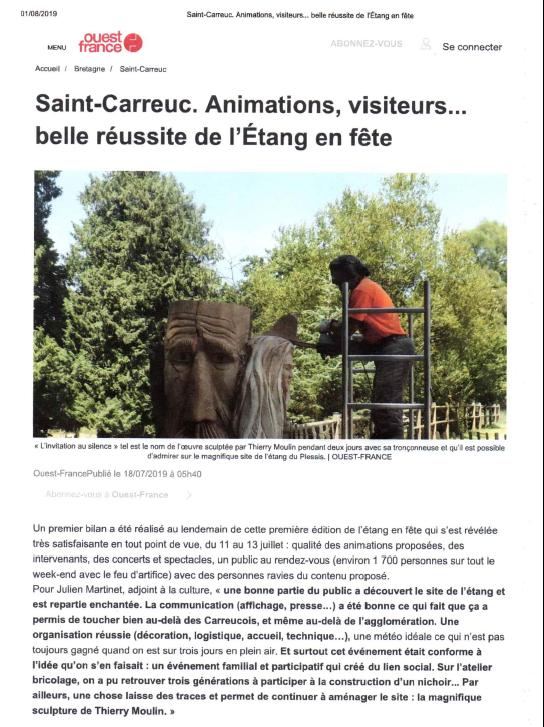 article Ouest France Saint Carreuc