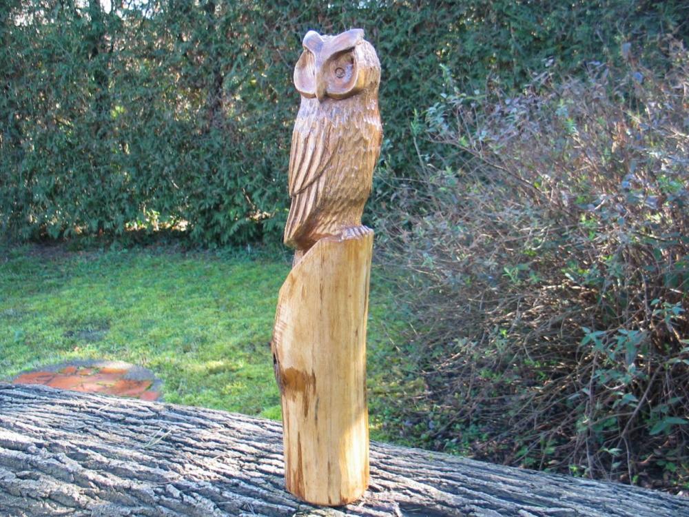 sculpture en châtaignier